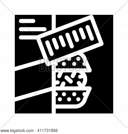 Sets Of Cooked Meals Glyph Icon Vector Illustration