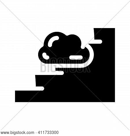 Stairway To Heaven Glyph Icon Vector Illustration