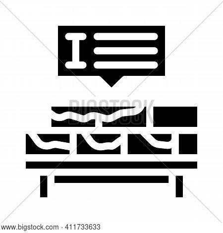 Brickwork Courses Glyph Icon Vector Illustration Sign