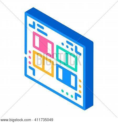 Prefabricated Printing Catalogs Isometric Icon Vector Illustration