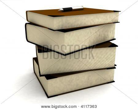 Pile Of University Books