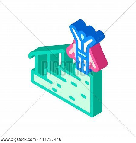 Career Advancement Isometric Icon Vector Illustration Sign