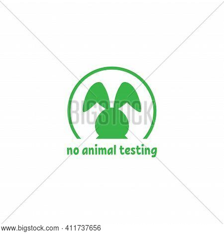 Cruelty Free Label. Not Tested On Animals Stamp. No Animal Testing Seal. Logo Design With Kitten Paw