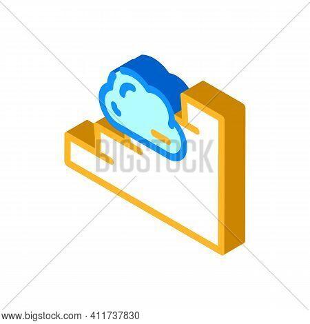Stairway To Heaven Isometric Icon Vector Illustration