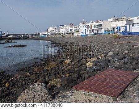 Puerto De Las Nieves, Agaete, Gran Canaria, Canary Islands, Spain December 17, 2020: View Of The Por