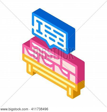 Brickwork Courses Isometric Icon Vector Illustration Sign