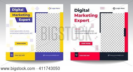 Digital Marketing Social Media Post Template, Digital Marketing Agency, Creative Marketing Expert,