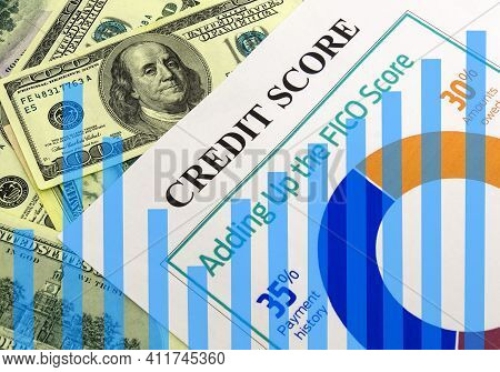 Growing Chart Amid Dollars And Credit Score. The Idea Of A Successful Credit History. Got A 250 Cred