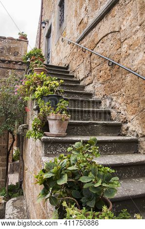 Buildings Of The Village Of Civita Di Bagnoregio, Lazio, Italy