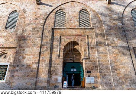 Bursa, Turkey - 10 December 2020: Exterior View Of Great Mosquein Bursa, Turkey