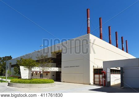 IRVINE, CALIFORNIA - 16 APRIL 2020: National Fuel Cell Research Center on the campus of the University of California Irvine, UCI.