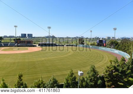 IRVINE, CALIFORNIA - 16 APRIL 2020: Cicerone Field Baseball Stadium Home of the University of California Irvine, UCI Anteaters.