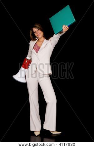 Businesswoman, Megaphone