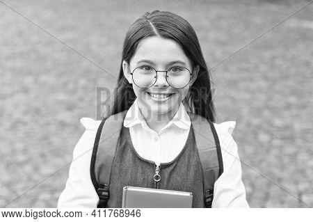 Welcome Back To School. Happy Kid Back To School. Little Child Wear Uniform. Formal Education. Start