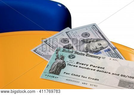 Us Treasury Illustrative Check For Child Tax Credit For A Single Dependent To Illustrate American Re