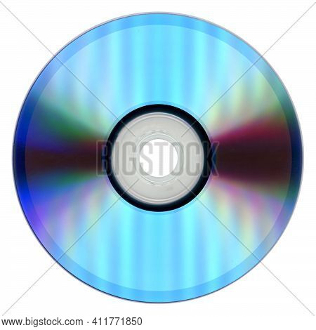Cd (compact Disc) Isolated Over White