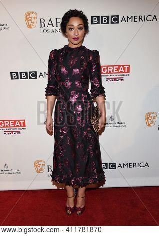 LOS ANGELES - JAN 7:  Ruth Negga arrives for  BAFTA Los Angeles Tea Party 2017 on January 07, 2017 in Beverly Hills, CA