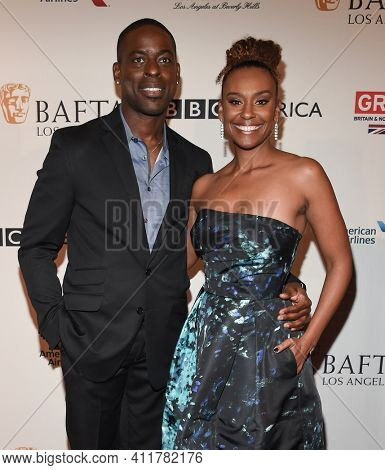 LOS ANGELES - JAN 7:  Sterling K. Brown and Ryan Michelle Bathe arrives for  BAFTA Los Angeles Tea Party 2017 on January 07, 2017 in Beverly Hills, CA