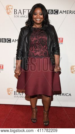 LOS ANGELES - JAN 7:  Octavia Spencer arrives for  BAFTA Los Angeles Tea Party 2017 on January 07, 2017 in Beverly Hills, CA