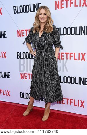 LOS ANGELES - MAY 24:  Jacinda Barrett arrives for  the 'Bloodline' Season 3 Premiere on May 24, 2017 in Culver City, CA