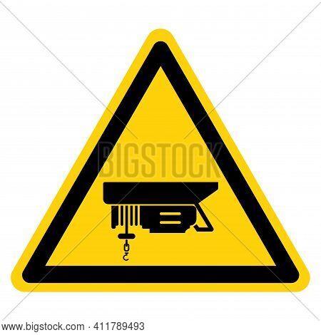 Hoist Above Symbol Sign ,vector Illustration, Isolate On White Background Label. Eps10