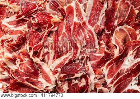 Jamon Iberico Background, Premium Serrano Ham Aged 28 Months