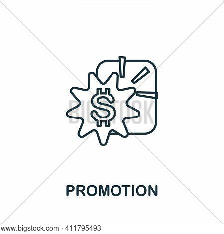 Promotion Icon. Simple Illustration From Startup Collection. Creative Promotion Icon For Web Design,