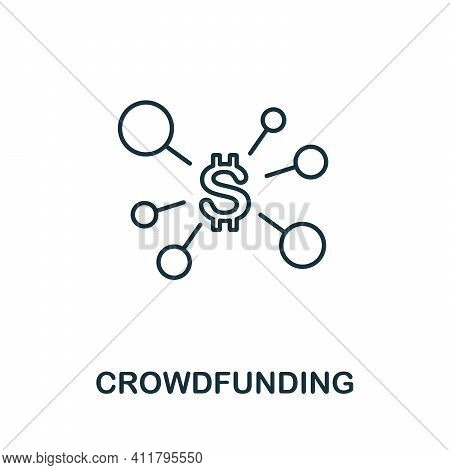 Crowdfunding Icon. Simple Illustration From Startup Collection. Creative Crowdfunding Icon For Web D