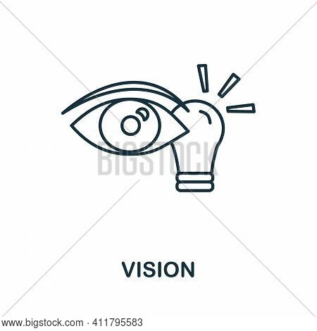 Vision Icon. Simple Illustration From Startup Collection. Creative Vision Icon For Web Design, Templ