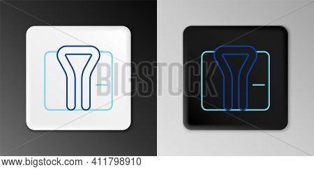Line Bathrobe Icon Isolated On Grey Background. Colorful Outline Concept. Vector