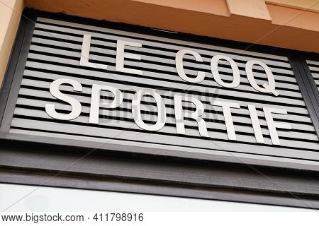 Bordeaux , Aquitaine France - 03 08 2021 : Le Coq Sportif Logo Brand And Text Sign Of Sportswear Sto