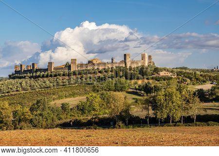 Old Town Monteriggioni, Tuscany, Italy
