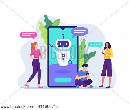 Chatbot Customer Service Illustration