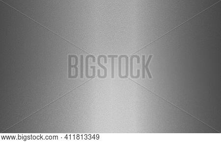 Brushed Silver Metal Texture Background Design. Abstract Background Of Metal Texture With Aluminum O
