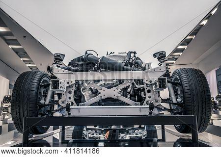 Munich/ Germany - May, 24 2019: Bmw E-maschine Emp 242/130 Car In Bmw Museum/ Bmw Welt