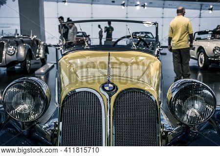 Munich/ Germany - May, 24 2019: 1939 Bmw 315/1 Cabriolet  In Bmw Museum / Bmw Welt