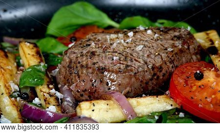 Grilled Beef Steak With Vegetables Tasty And Delicious Chicken Mutton And Beef Fresh And Healthy Mea