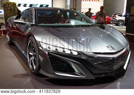 Frankfurt, Germany - Sep 13, 2013: Honda Nsx Sports Car Showcased At The Frankfurt Iaa Motor Show.