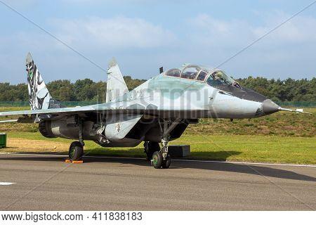 Slovak Air Force Mig-29 Fulcrum Fighter Jet On The Tarmac Of Kleine-brogel Air Base. Belgium - Septe