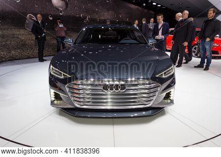 Geneva, Switzerland - March 4, 2015: Audi Prologue Avant Concept Car At The 85th International Genev