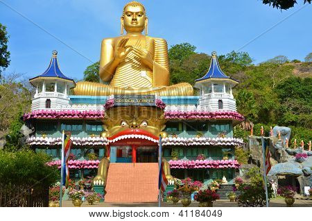 Golden Temple of Dambulla (Dambulla Cave Temple) in Sri Lanka