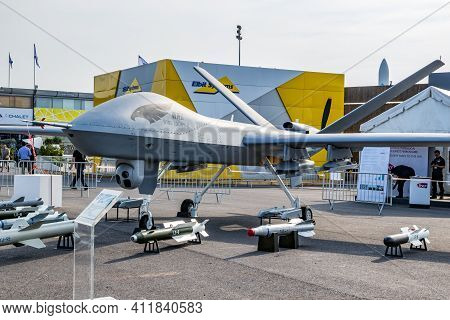 Chinese Chengdu Aircraft Industry Group (caig) Wing Loong Ii  Military Uav Drone Showcased At The Pa