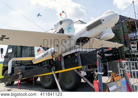 Berlin, Germany - Apr 27, 2018: Tuas Luna Ng Drone Of The German Armed Forces Showcased At The Berli