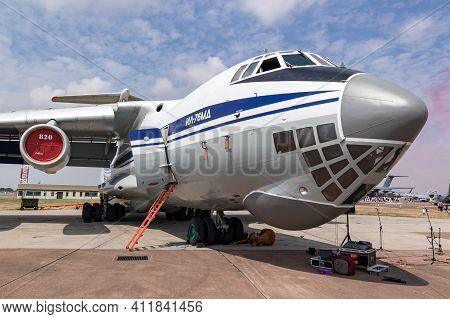 Ukrainian Air Force Ilyushin Il-76 Transport Plane On The Tarmac Of Raf Fairford. Uk - July 13, 2018