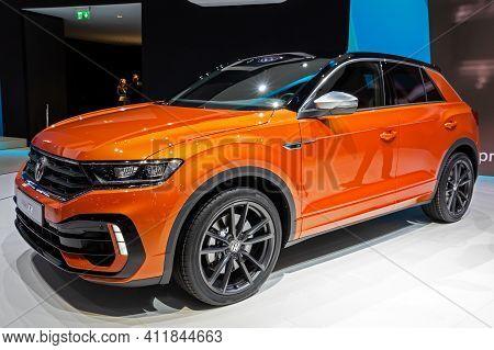 Volkswagen T-cross R-line Car At The 89th Geneva International Motor Show. Geneva, Switzerland - Mar