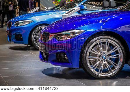 Bmw 4 Series Gran Coupe Car At The 89th Geneva International Motor Show. Geneva, Switzerland - March