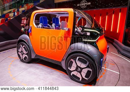 Citroen Ami Electric Concept Car At The 89th Geneva International Motor Show. Geneva, Switzerland -