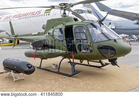 Airbus H125m Helicopter On Display At The Paris Air Show. France - June 20, 2019