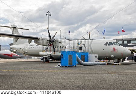 Pakistan Naval Air Arm Atr-72 Maritime Patrol Aircraft (mpa) Plane On Display At The Paris Air Show.