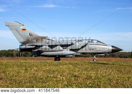 Panavia Tornado Bomber Jet From The German Air Force At Kleine-brogel Airbase. Belgium - September 1